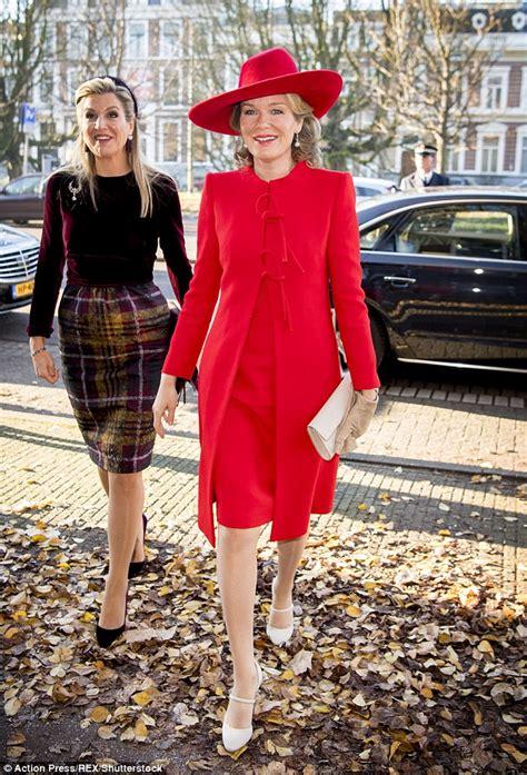 Queen Mathilde Belgium Visits Maxima Amsterdam