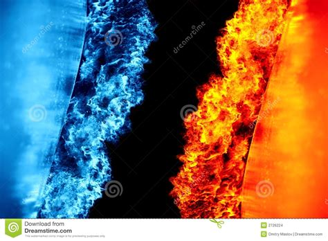 ice and fire stock photo image of fire abstract cold