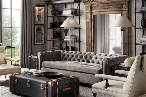 Red And Black Themed Living Room Ideas by Restoration Hardware Shade Of Gray Home Decor New York