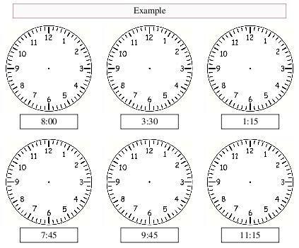 analogue clock worksheet maker    tailored