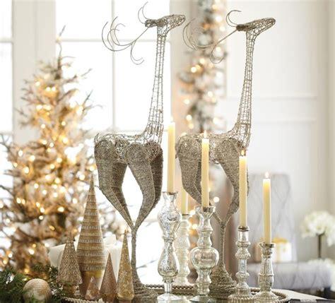 elegant silver reindeer