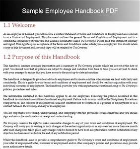 Employee handbook template beepmunk for Employees handbook free template