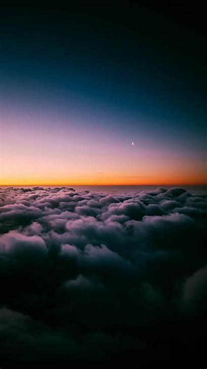 Clouds Sunset Above Horizon Cloud 1080 1920