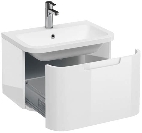 600mm wall hung vanity unit aqua cabinets compact white 600mm wall hung basin vanity unit