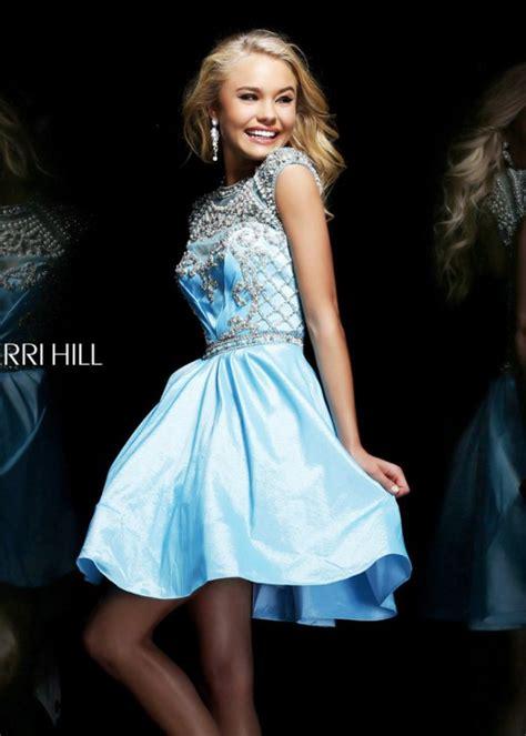 sherri hill light blue dress sherri hill 4300 light blue beaded short homecoming dress