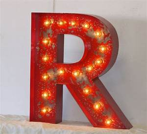 Custom listing 24quot large vintage style marquee letters for Large metal marquee letters