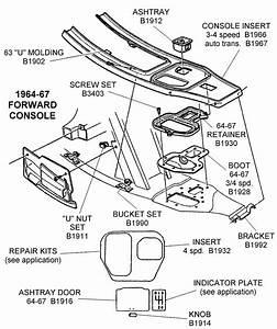 1964-67 Forward Console - Diagram View