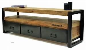 Meuble Design Industriel : meuble tv collection design industriel industriel solution m dia et meuble tv autres ~ Teatrodelosmanantiales.com Idées de Décoration