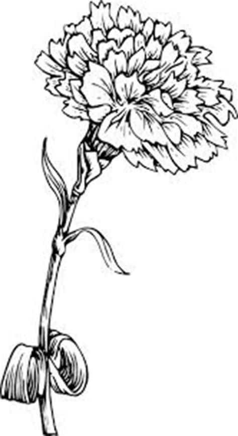 Picture Of Carnation Flower Coloring Page : Coloring Sun | Carnation tattoo, Half sleeve tattoos