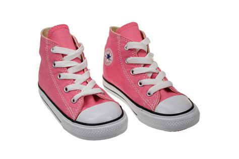 Toddler Shoes : Converse Hi Toddler Infant Kids Pink Canvas Trainers