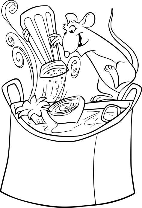 cuisine gratuit coloriage cuisine ratatouille à imprimer sur coloriages info