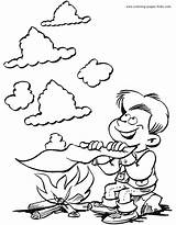 Coloring Pages Scouts Scouting Scout Boy Jobs Cub Printable Smoke Signals Sheets Fun Sheet Making Boys sketch template