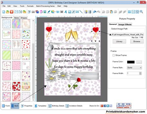 birthday cards maker software screenshots  design