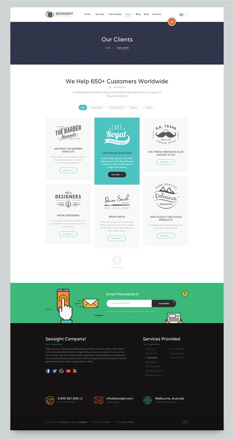Seo Digital Marketing Agency by Seosight Seo Digital Marketing Agency Psd Template By