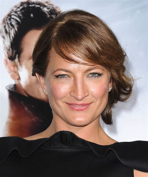 zoe bell formal long straight updo hairstyle  side