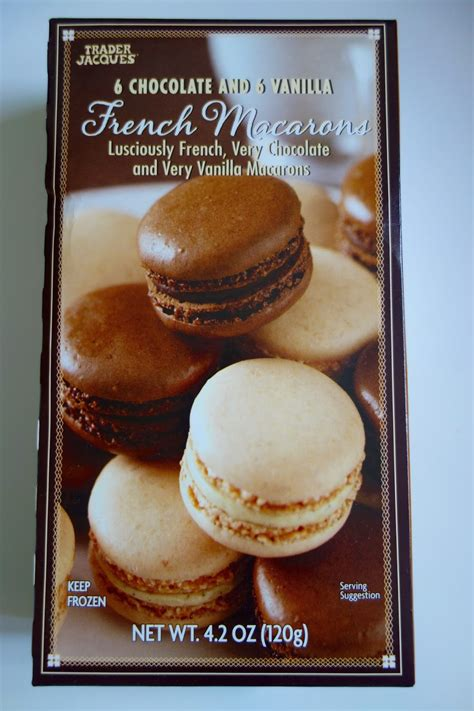trader jacques chocolate  vanilla french macarons