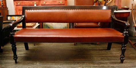 19th century ebonized bench from masonic lodge