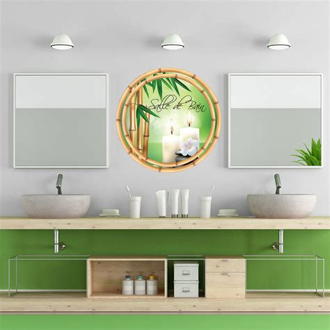 emejing stickers salle de bain zen pictures awesome interior home satellite delight us