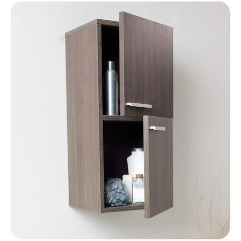 bathroom linen side cabinet fresca gray oak bathroom linen side cabinet w 2 storage