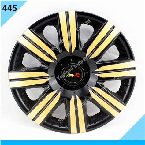 abs pp plastic car wheel cover gold and black color car