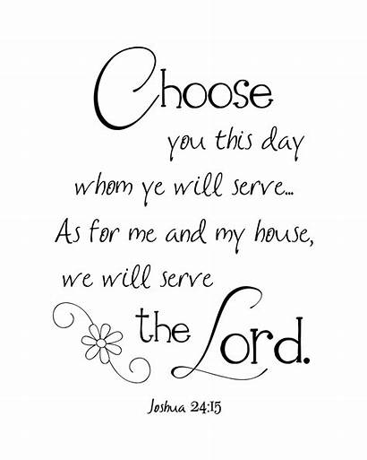Printable Serve Lord Bible Joshua Scripture Verses