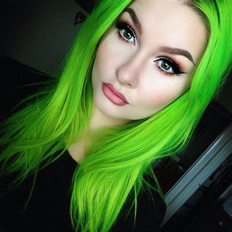 Intense Lime Green Hair Best Hair Styles Color And Cuts