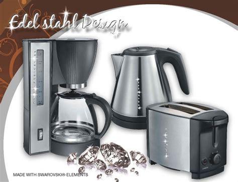set kaffeemaschine toaster wasserkocher k 252 chen set swarowski steine butler kaffeemaschine toaster wasserkocher ebay
