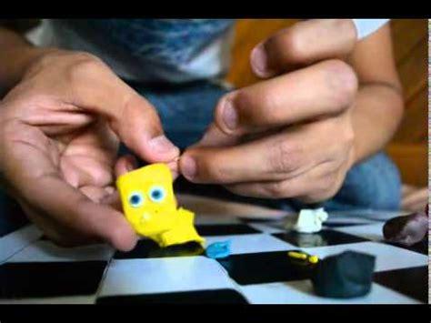 Tutorial como hacer a bob esponja de plastilina YouTube