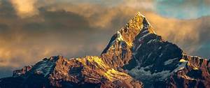 HD Background Annapurna Mountain Nepal Himalayas Range Sky ...