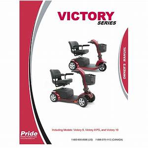 Owner U0026 39 S Manual For Pride Victory 9 And Victory 10