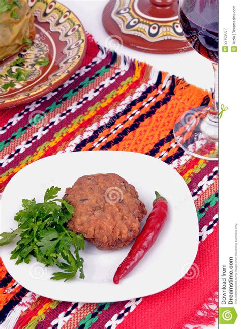 cuisine libre cuisine bulgare traditionnelle photographie stock libre de