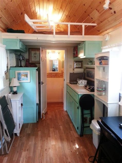 small homes interiors 136 sq ft tiny cottage on a trailer for 32 000 tiny