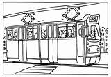 Tram Coloring Tramway Kleurplaat Colorare Metro Disegno Transporte Strassenbahn Colorear Malvorlage Vervoer Publico Kleurplaten Coloriage Transport Dessin Transports Imagenes Coloriages sketch template