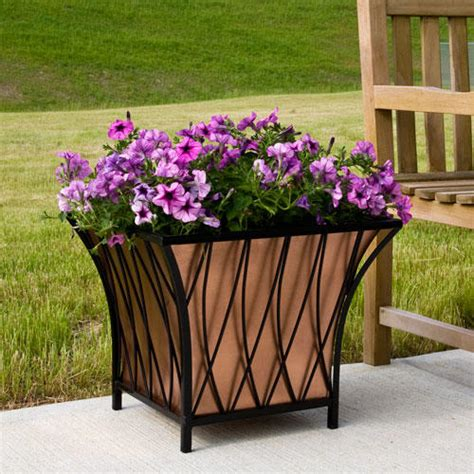 Copper Outdoor Planters by Rectangular Copper Planter Planters And Windowboxes
