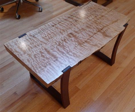 curly maple  ipe coffee table