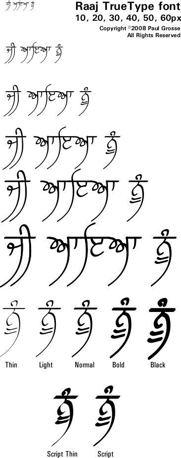 punjabigurmukhi fonts