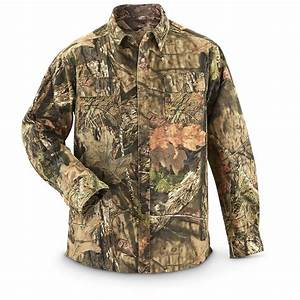 Guide Gear Men U0026 39 S Shirt Jacket  Mossy Oak Break