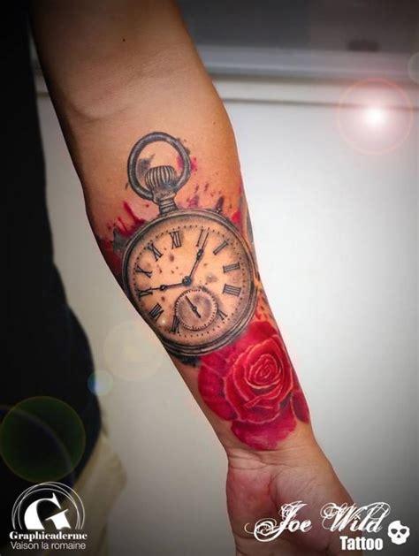 tattoo rose  montre  gousset signe joe wild graphicaderme