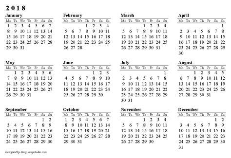 2017 2018 calendar template blank 2018 calendar weekly calendar template