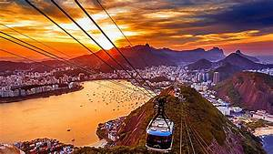Copacabana Sunset View From Sugar Loaf Cable Car Wallpaper ...