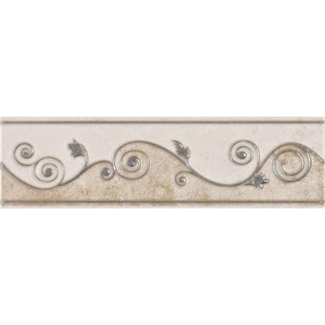 wallpaper borders bathroom ideas eliane melbourne sand 3 in x 8 in ceramic listello wall