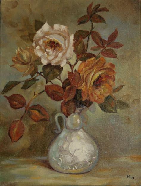 peinture bouquet de roses