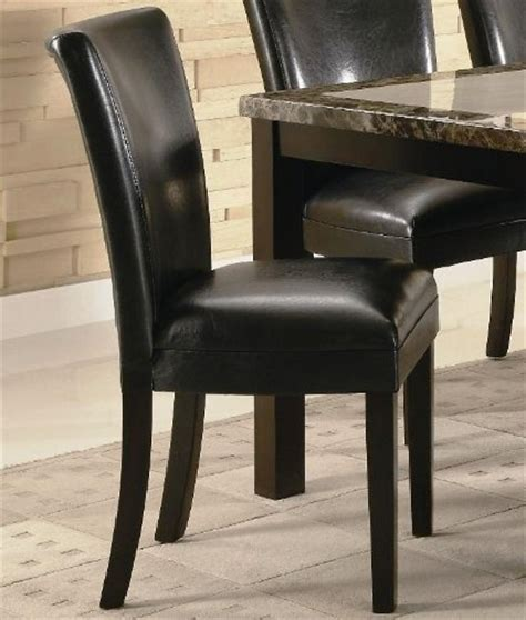 black friday set of 2 parson dining chairs in black faux