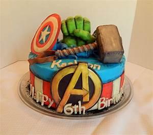 Avengers Cake!! - CakeCentral com