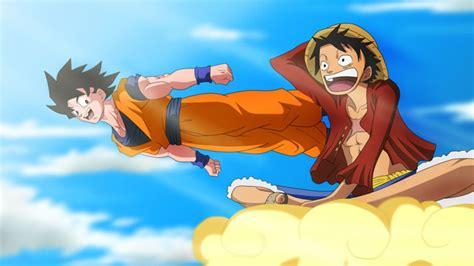 dragon ball    piece  toriko anime crossover special