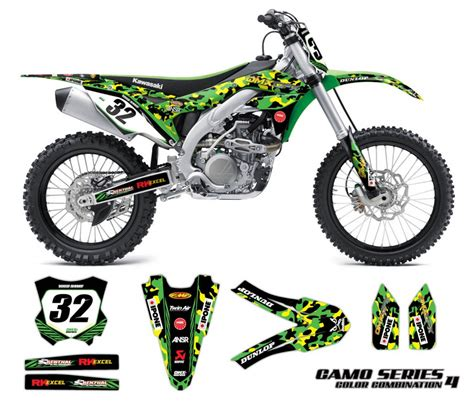 camo motocross kawasaki motocross graphics kit camo omx graphics