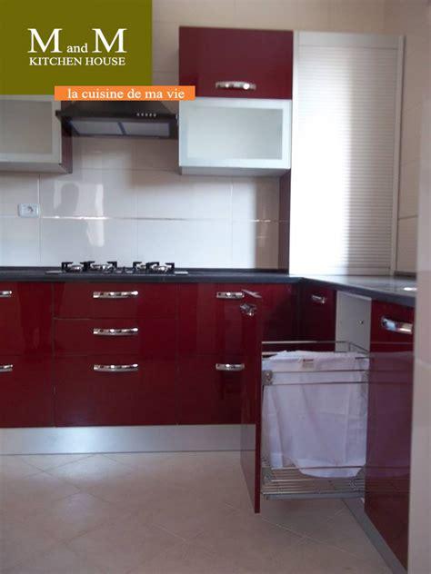 cuisine encastrable rouge bordeau meubles  decoration