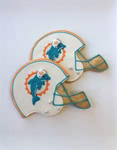 Miami Dolphins Helmet Cookies