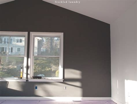 charcoal grey feature wall love paint love