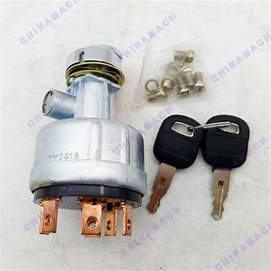 6 Terminal Ignition Starter Switch With 2 Keys For